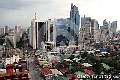 Makati city skyline manila philippines