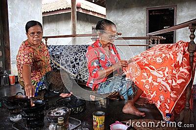 Make batik Editorial Photography
