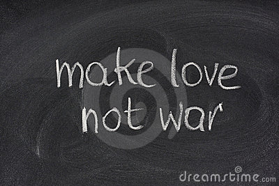 Make love not war on blackboard