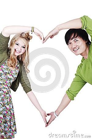 Make a love symbol