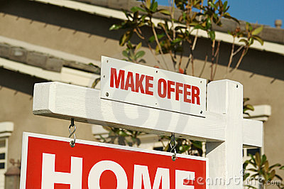 Make Offer Real Estate Sign & New Home