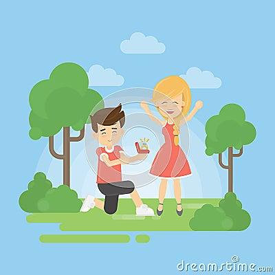 Make a proposal. Vector Illustration