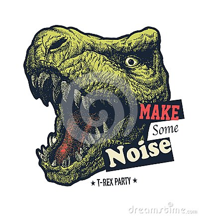 Free Make Some Noise Slogan Graphic Stock Photo - 125022550