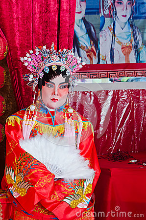 Make up as the Chinese Opera Editorial Stock Image