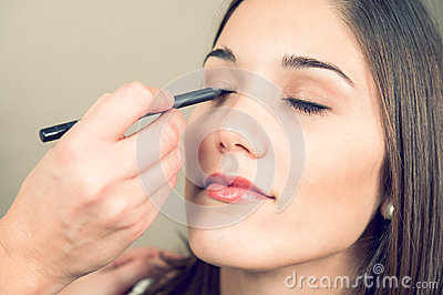 Make up of a beautiful young woman