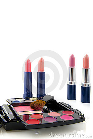 Make up box and lipsticks