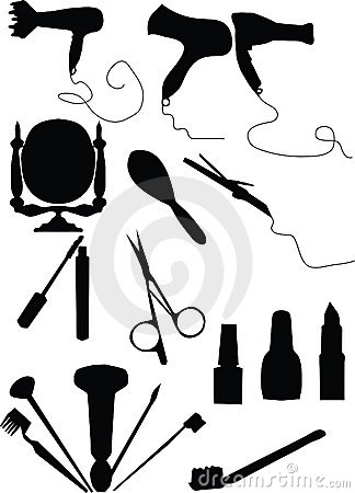 Make-up and coiffure set
