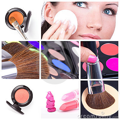 Free Make-up Collage Stock Photos - 17995693