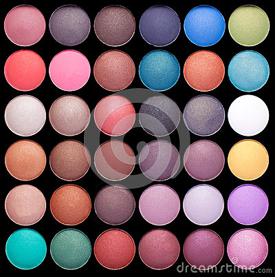 Free Make-up Colorful Eyeshadow Palettes Royalty Free Stock Photography - 25383607