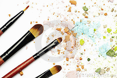 Make-up cosmetics and brushes