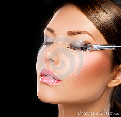 Free Make-up. Eye Shadow Brush Stock Photo - 25698110