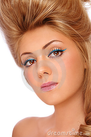 Make-up And Hairdo Royalty Free Stock Photo - Image: 21520015