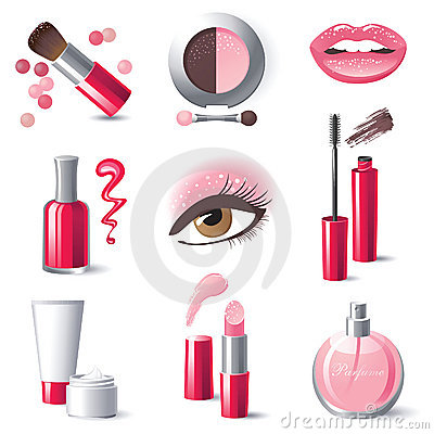 Free Make-up Icons Royalty Free Stock Photography - 22552257