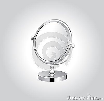 Make-up metal mirror