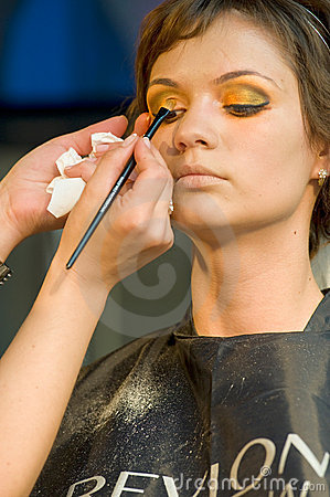 Make up session on Hair & Make Up Fest Editorial Stock Image