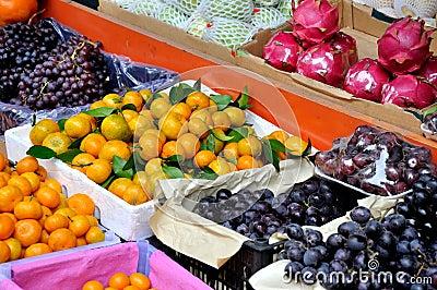 Maketing的销售额的多种新鲜水果