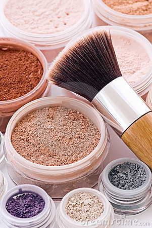 Free Makeup And Brush Stock Photo - 10199160