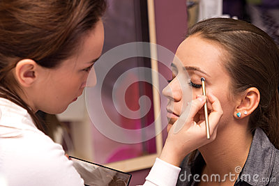 Makeup Artist At Work Royalty Free Stock Image - Image: 26429156