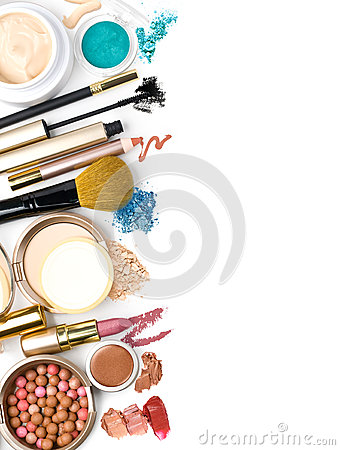 Free Makeup Brush And Cosmetics, Stock Photography - 30586282