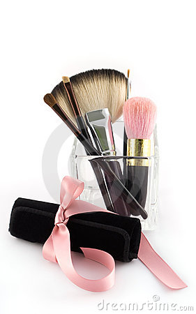 Brush Sets on Makeup Brush Set With Case Stock Photos   Image  13006993