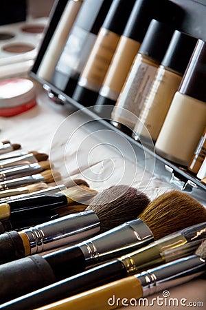 Free Makeup Brushes Royalty Free Stock Photo - 23886705