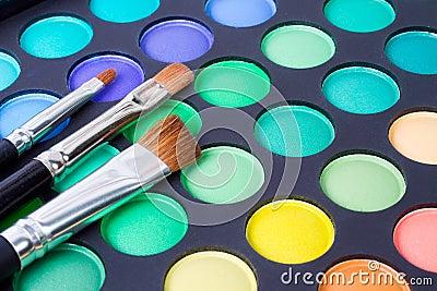 Makeup Brushes And Make up Eye Shadows Stock Image Image 22694741 Makeup for eyes