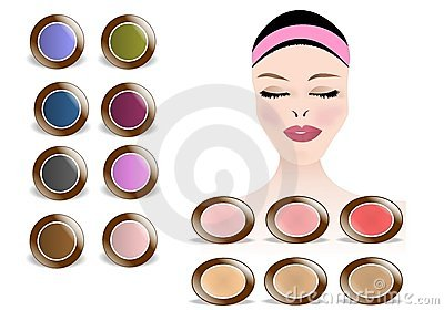 Makeup colors, cdr vector