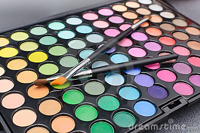Makeup palette of colors