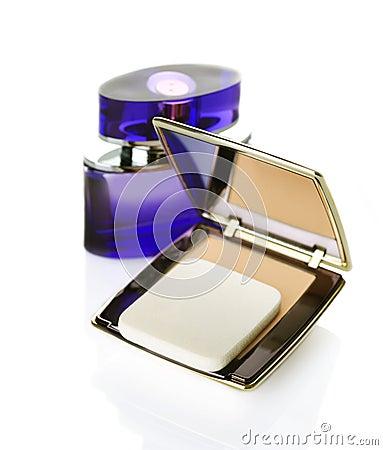 Makeup powder and Perfume