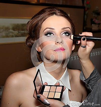 Makeup before wedding