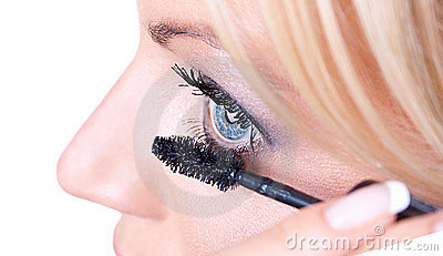Makeup woman  eyelash  treatment