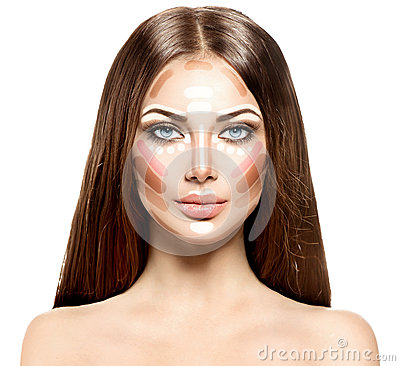 Free Makeup Woman Face Stock Photos - 58017523