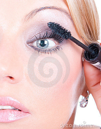 Makeup woman face eyelash  treatment