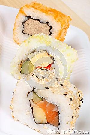 Maki sushi close-up