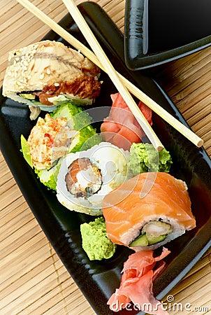 Free Maki Sushi Set Royalty Free Stock Photo - 49301505
