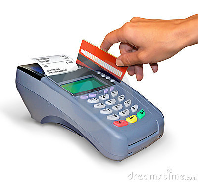 Free Making A Purchase With Credit Card Reader. Royalty Free Stock Image - 15123986