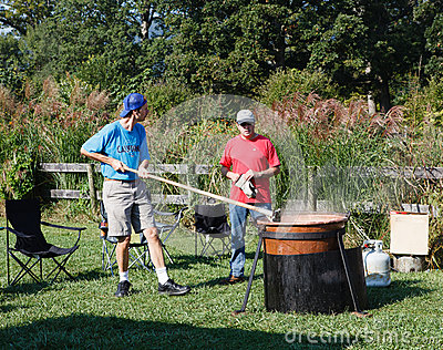 Making Apple Butter Festival Virginia Editorial Photo