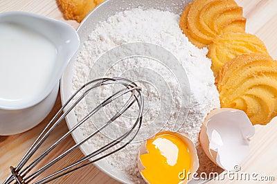 Making baking cookies