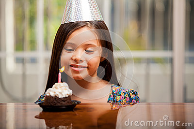 Making a birthday wish