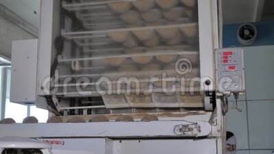 Making bread at the bakery. The process of making bread at the bakery stock footage