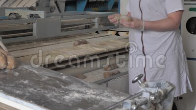 Making bread at the bakery. The process of making bread at the bakery stock video