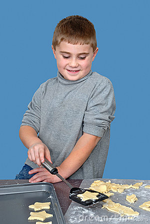 Making cutout cookies