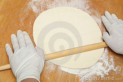 Making dough for the pie