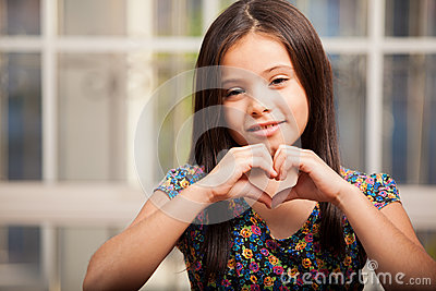 Making a heart with my hands