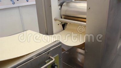 Making noodles machine stock footage