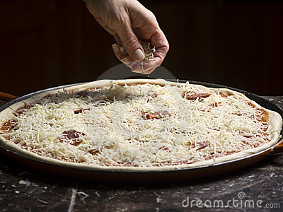 Making a pizza