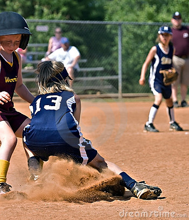 Making a Play at First Base Editorial Stock Photo