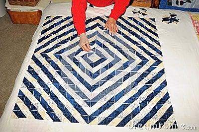 Making quilt
