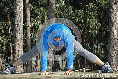 Making stretching movements