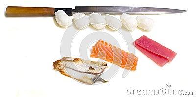 Making sushi nigiri